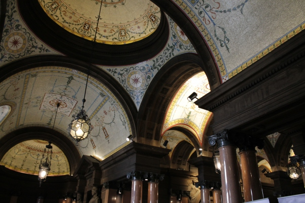 Just the first of many impressive ceilings