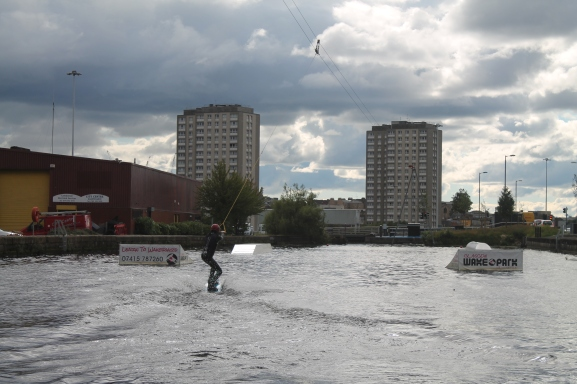 Wakeboarding: As demonstrated by the captain of the Glasgow Uni Wake Boarding Club.
